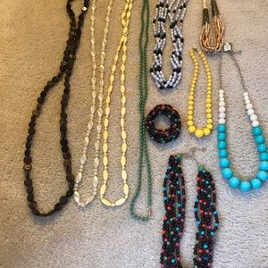 Fashion jewelry lot. Some new, some vintage.
